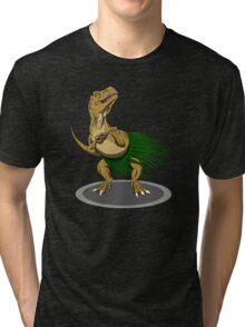 T-Rex Ukulele Tri-blend T-Shirt