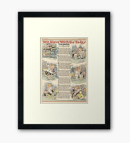 The Dentist, 1919 full page news paper cartoon Framed Print