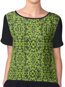 Green particles Chiffon Top