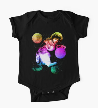 Planet Space Cat  One Piece - Short Sleeve