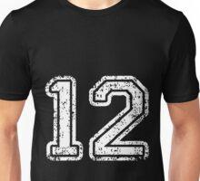 Sport Team Jersey 12 T Shirt Football Soccer Baseball Hockey Double Basketball One Two 1 2 Twelve Unisex T-Shirt