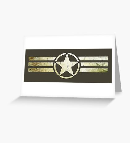 Military star with stripes grunge Greeting Card