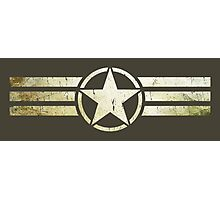 Military star with stripes grunge Photographic Print