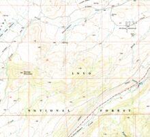 USGS TOPO Map California CA Tungsten Hills 295543 1982 24000 geo Sticker
