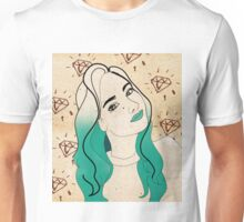 Blue Girl Diamonds Unisex T-Shirt
