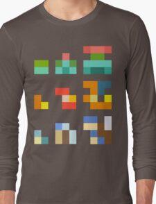 Minimalist Pokemon starters Long Sleeve T-Shirt