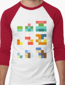 Minimalist Pokemon starters Men's Baseball ¾ T-Shirt