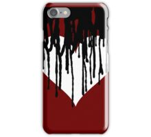 Dark Heart - Maroon Background  iPhone Case/Skin