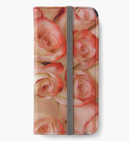 Pink and Peach Roses iPhone Wallet/Case/Skin