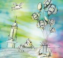Flying balloons by BorisBurakov