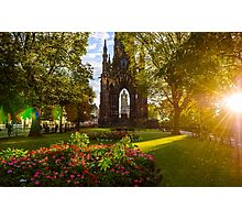 A Princes St Gardens sunrise Photographic Print
