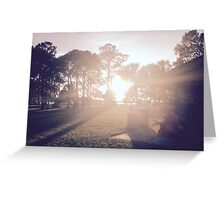 Sunset at the Park Greeting Card