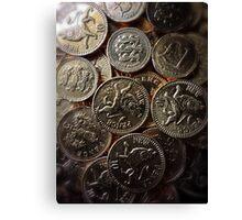 Choc Coins for Christmas Canvas Print