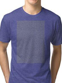 Bee Movie Script (CHECK DESCRIPTION) Tri-blend T-Shirt
