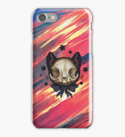 Cute Cat Skull iPhone Case/Skin