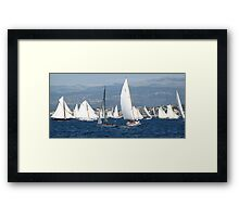FROM THE SEA TO THE LAND, FROM THE LAND TO THE SEA.CANNES-FRANCIA -EUROPA- All rb Group of Boats and Sailing lovers -  VETRINA RB EXPLORE 16 OTT.2012 Framed Print