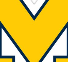 "University of Michigan  ""M"" sticker Sticker"