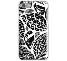 Geometrical nature print / little geometric leaves iPhone Case/Skin
