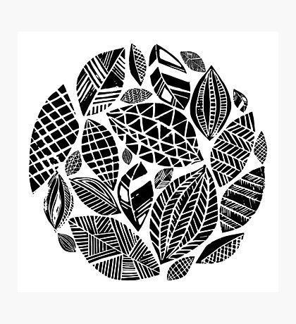 Geometrical nature print / little geometric leaves Photographic Print