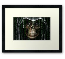 gothic matrix code design Framed Print