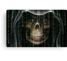 gothic matrix code design Canvas Print