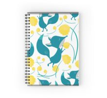 Fox and Flowers Spiral Notebook