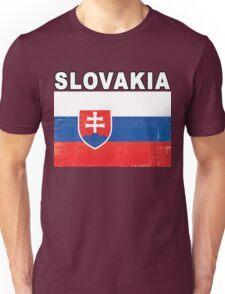 Slovakia Distressed Flag Sports Design Unisex T-Shirt