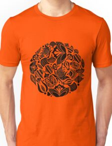 Folksy pattern with lines / flowers and lines Unisex T-Shirt