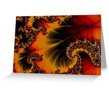 Autumn spidersweb Greeting Card