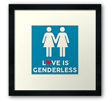 Love Is Genderless - Two Women Framed Print
