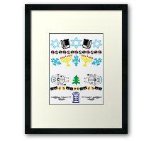An Ugly 8 Bit Hanukkah Framed Print