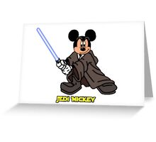 Jedi Mickey Greeting Card