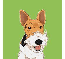 ZIVA - Wire Fox Terrier Dog / happy  Photographic Print