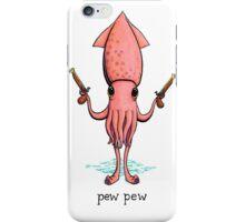 Pew Pew! Squid with pistols iPhone Case/Skin
