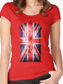 Tardis Union Jack Women's Fitted Scoop T-Shirt