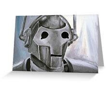 Dr Who Villains No.6 :Cyberman Greeting Card