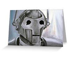 Dr Who Villains No.6 :Cyberman Greeting Card
