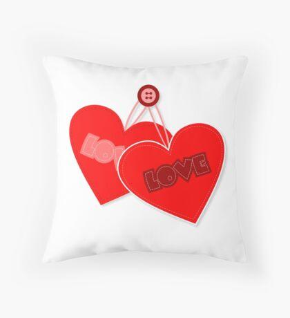 Retro heart design  Throw Pillow