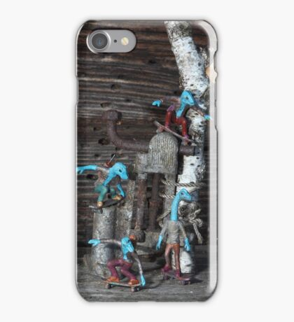 Micro-Dino Skateboarders series (#10) iPhone Case/Skin