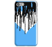 Dark Heart - Light Blue Background  iPhone Case/Skin