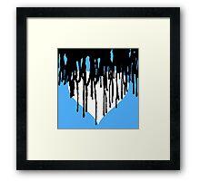 Dark Heart - Light Blue Background  Framed Print