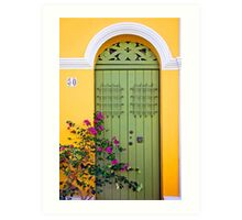 San Juan doorway Art Print