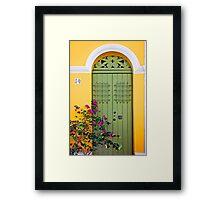 San Juan doorway Framed Print