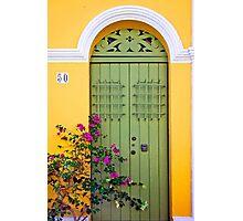 San Juan doorway Photographic Print