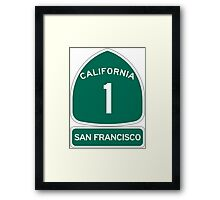 PCH - CA Highway 1 - San Francisco Framed Print