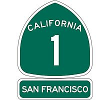 PCH - CA Highway 1 - San Francisco Photographic Print