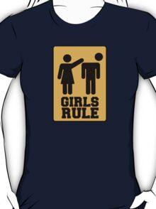 Girls rule sign T-Shirt