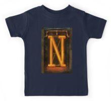 Steampunk - Alphabet - N is for Nixie Tube Kids Tee