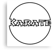 Karate Bubble Canvas Print