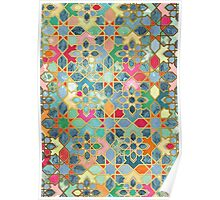 Gilt & Glory - Colorful Moroccan Mosaic Poster